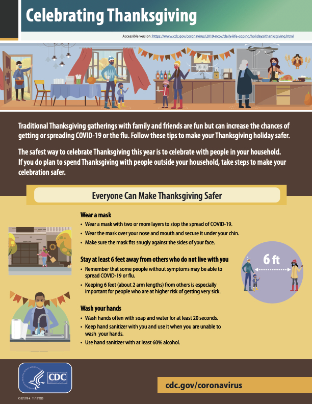 CDC Thanksgiving Recommendations Page 1