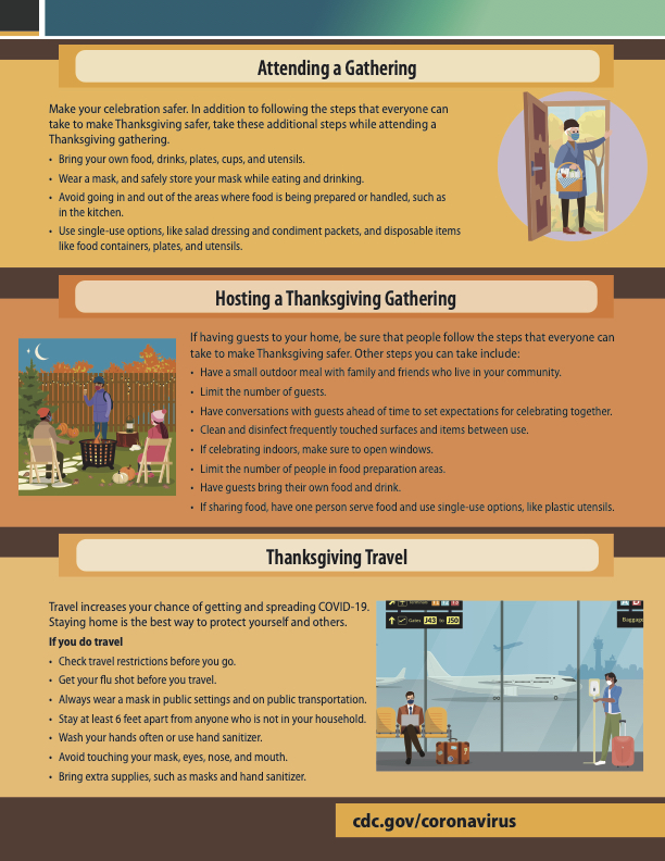 CDC Thanksgiving Recommendations Page 2